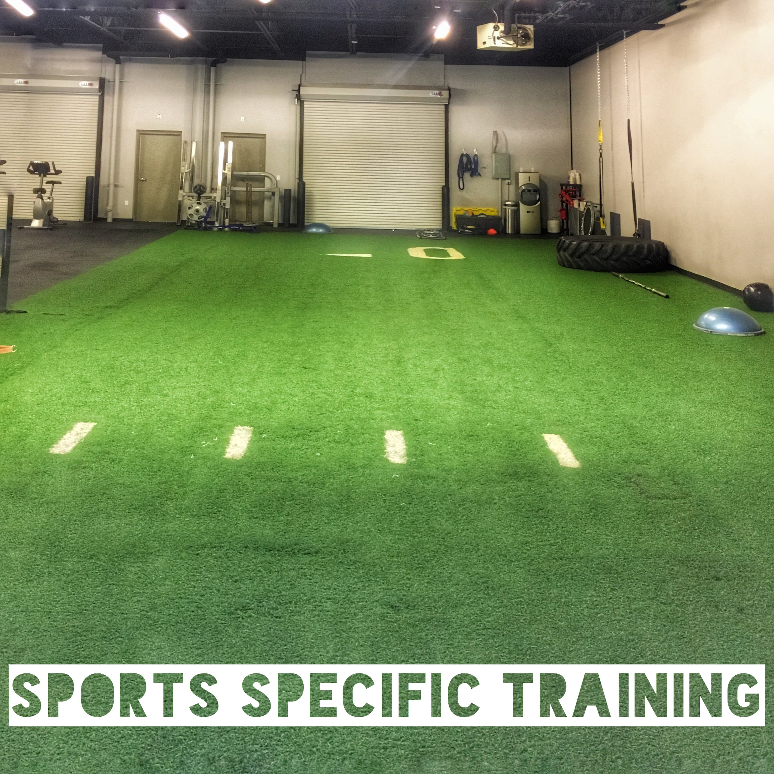 Did you know Live Fit has 25 yards of indoor turf? Our certified personal trainers use the indior turf for sport specific training. This type of personal training can include speed drills, foot work, explosive training and much more.