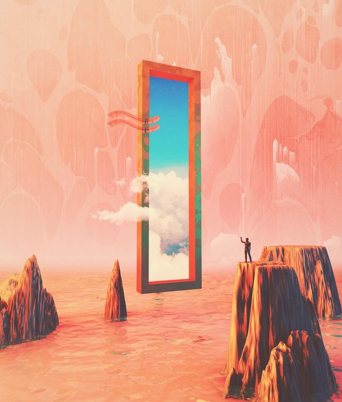 """""""Dimensión paralela"""".Ilustración 3D."""