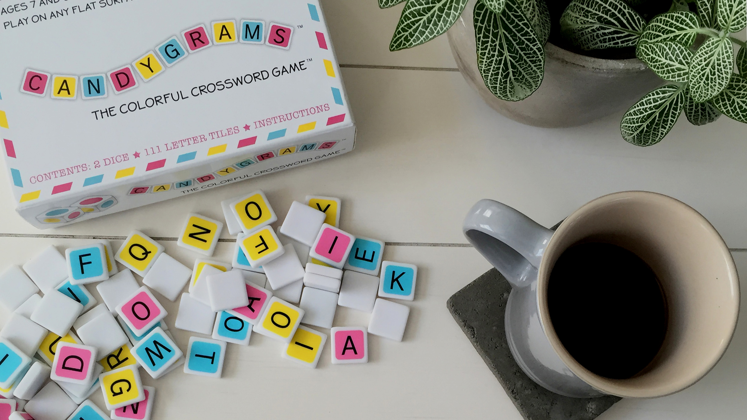 So we created Candygrams. - A relaxed, fun, but strategic word game that can be enjoyed by everyone from kids to word nerds.