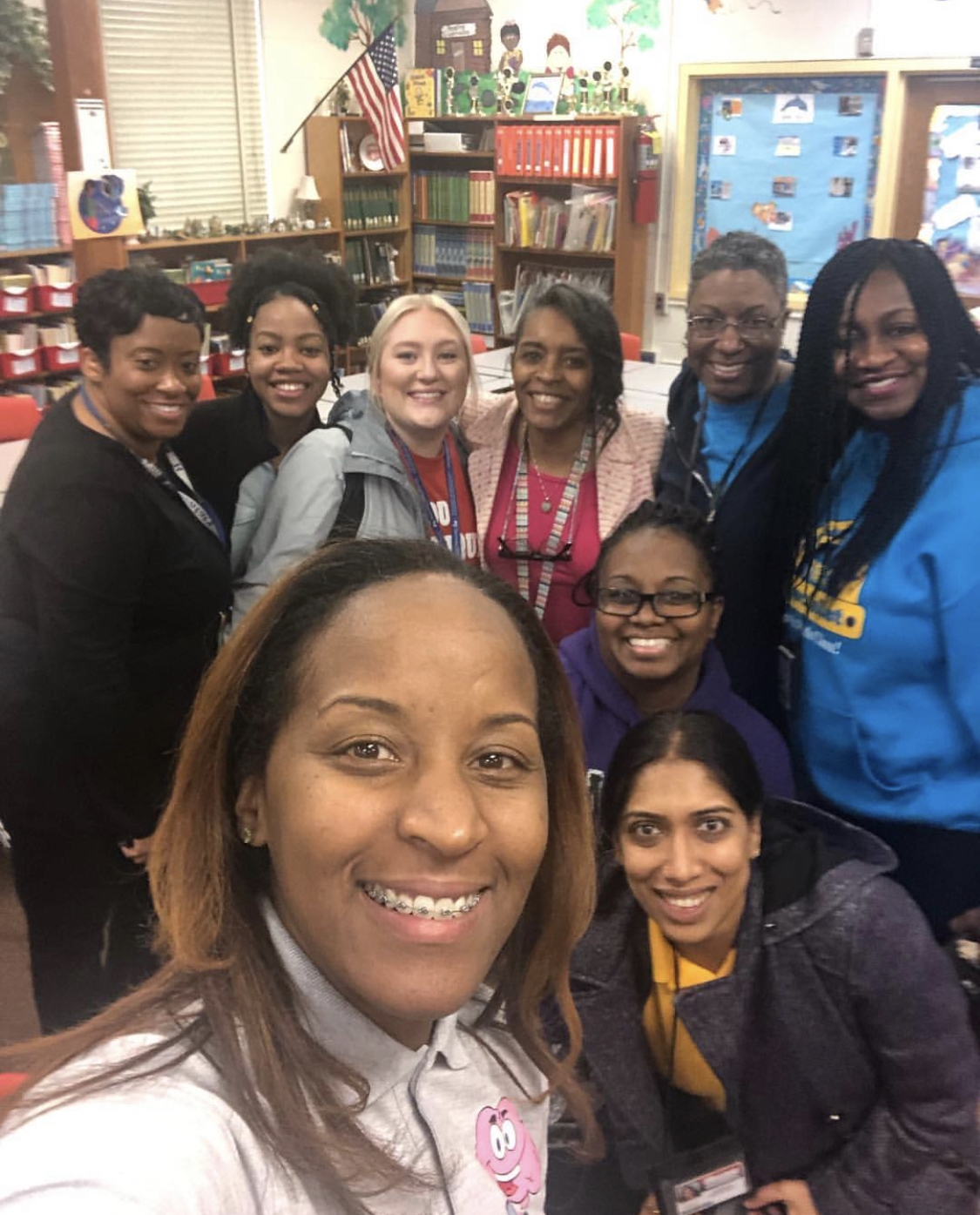 All smiles after a professional learning session! (DeKalb County, Georgia.) We always seem to have more math than we have minutes!