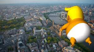 A giant inflatable baby Trump - complete with small hands - will fly over London for Trump's upcoming visit -