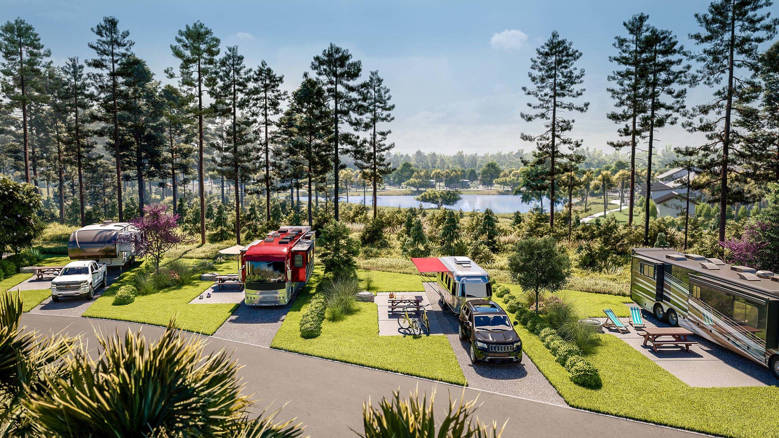RVs at Carolina Pines, by TEN OVER MEDIA.