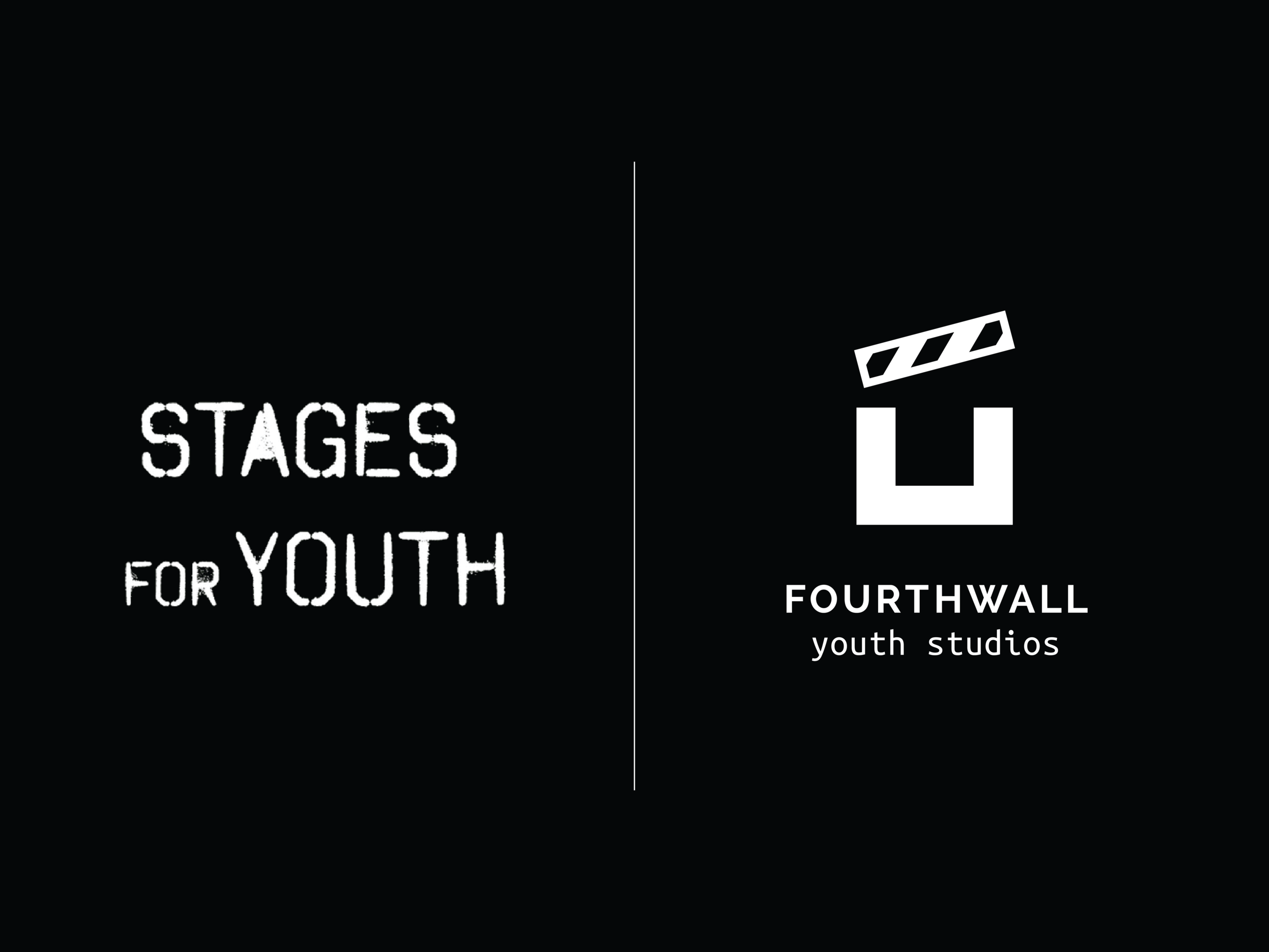 Before (Stages for Youth) and after (Fourthwall Youth Studios) transformation.