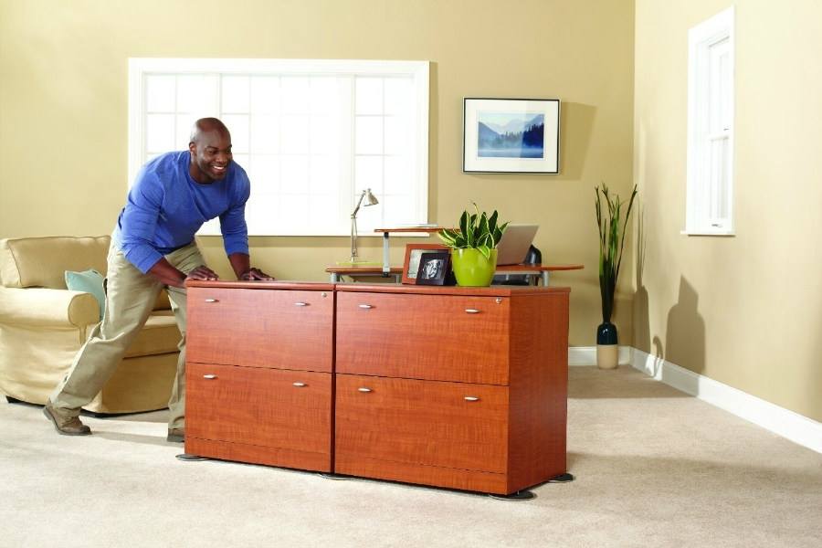 Step 3: Move Everything - Move everything besides heavy appliances and furniture 2-3 feet away from the walls or to the middle of the room.