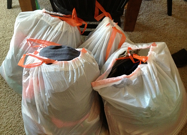- Step 6: Secure All ClothesAgain in plastic bags, remove all your clothes from the closets, dressers, cabinets or anywhere else you store them. This includes umbrellas, hats, scarves, shoes, linens, and towels. Place the filled bags in the middle of the room.