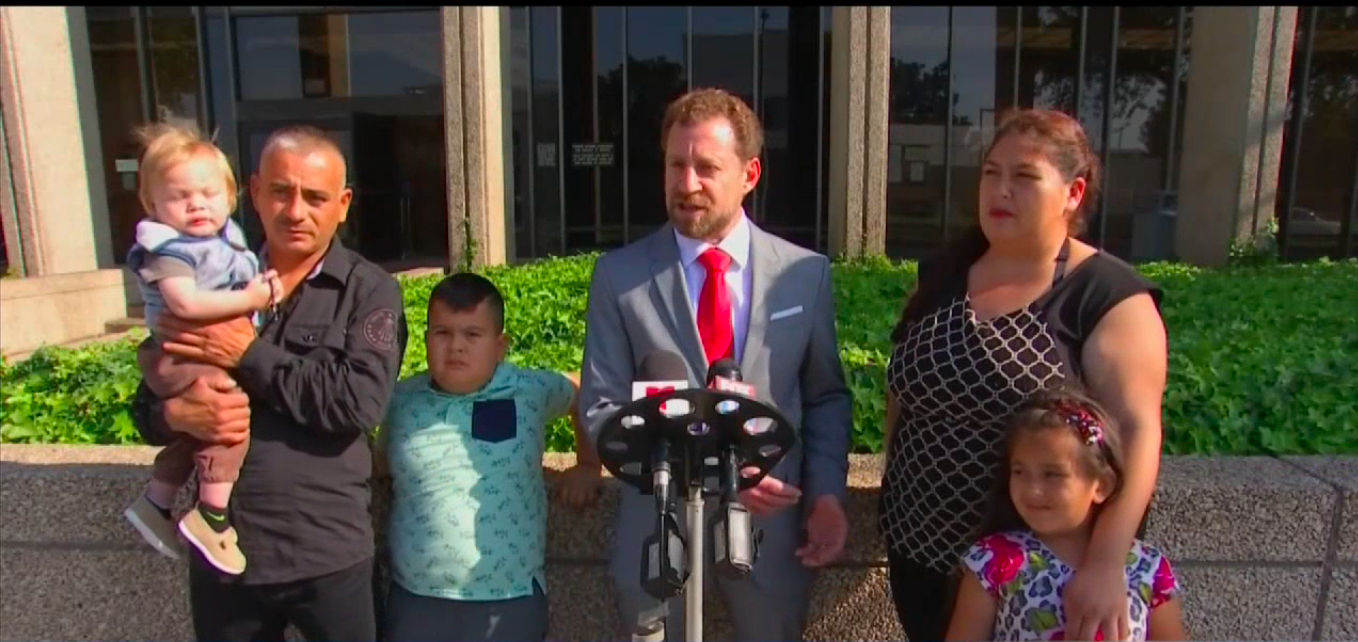 The Martinez Family and their Lawyer,Brian Virag.
