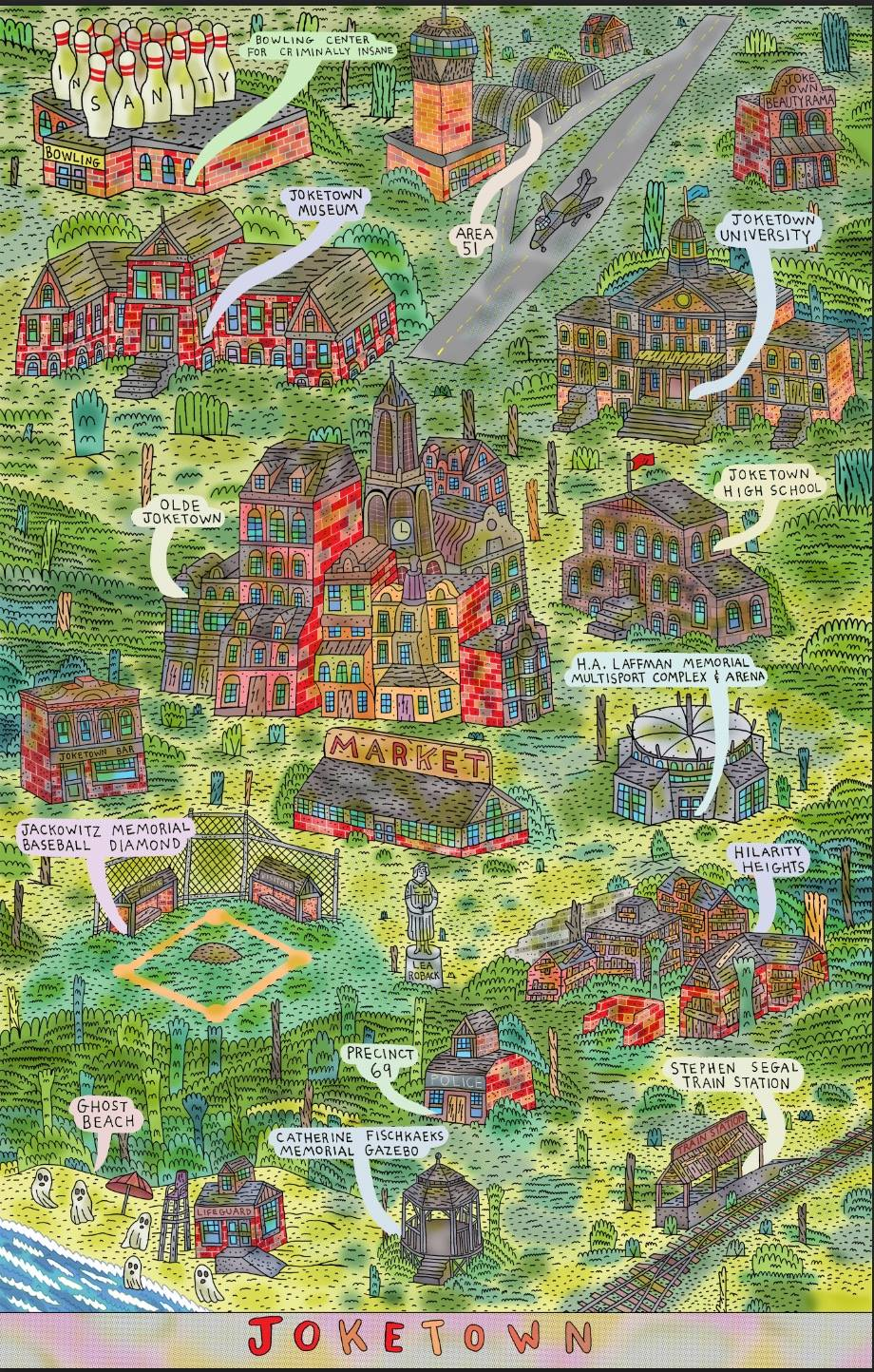 Keith Jones amazing map of Joketown.