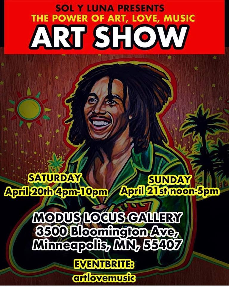 THE POWER OF ART, LOVE, MUSICART SHOW - ARTISTS KEN RIVERA AND TRISTA HENDRICKSONMODUS LOCUS GALLERY   4/20 - 4/21FREE ADMISSION TO THE GALLERY
