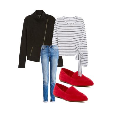 Jacket , Flats , Shirt