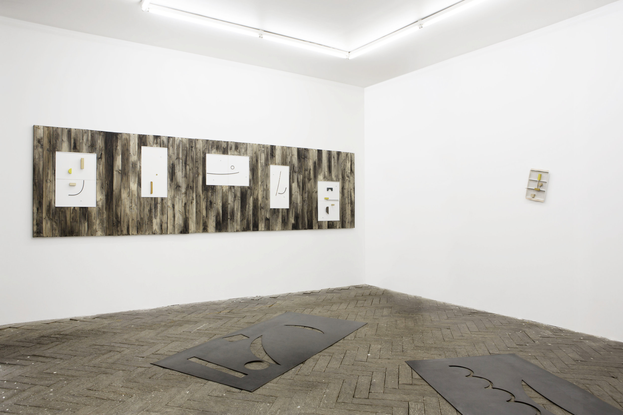 Automatic  (installation view), mixed media