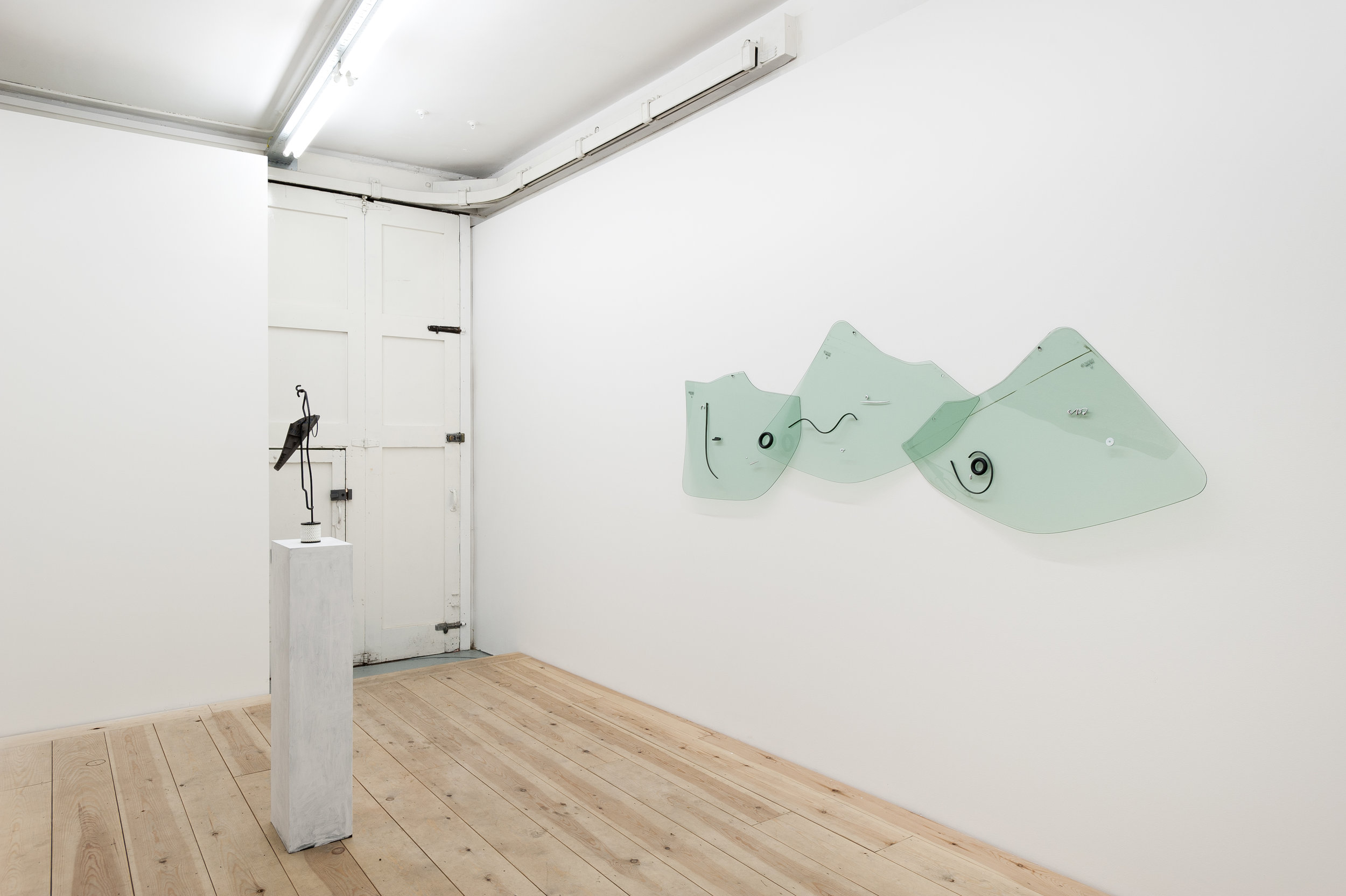 A Painted Sun as a Yellow Spot  (installation view), mixed media, Citroen Picasso parts