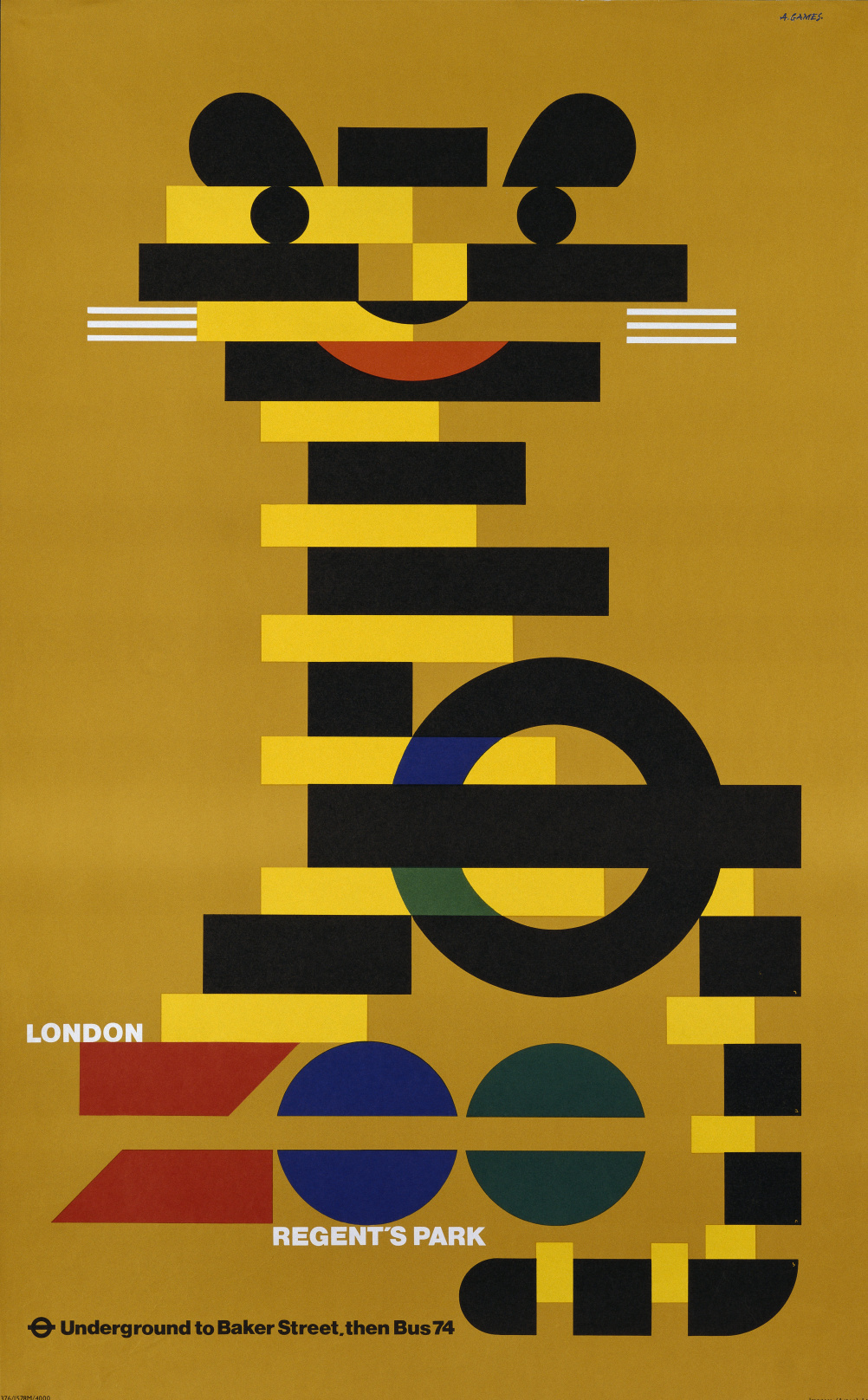 London Underground Zoo, Abram Games, 1976