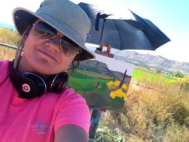 Plein air painting in Escalante, Utah