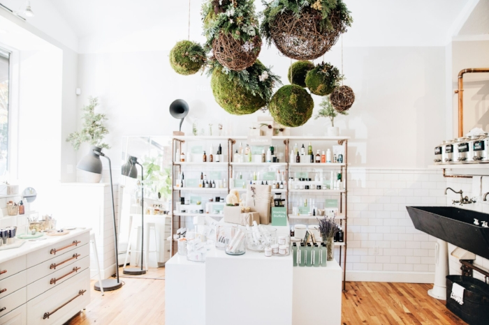 Follain's bright and airy stores in the South End and Beacon Hill offer a serene shopping experience, where you can get expert tips in clean beauty and skincare.   Photograph by Andrew Parsons/ www.andrewparsonsphotos.com