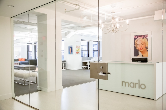 The entrance to marlo marketing's office in Downtown Crossing   Photograph courtesy of marlo marketing