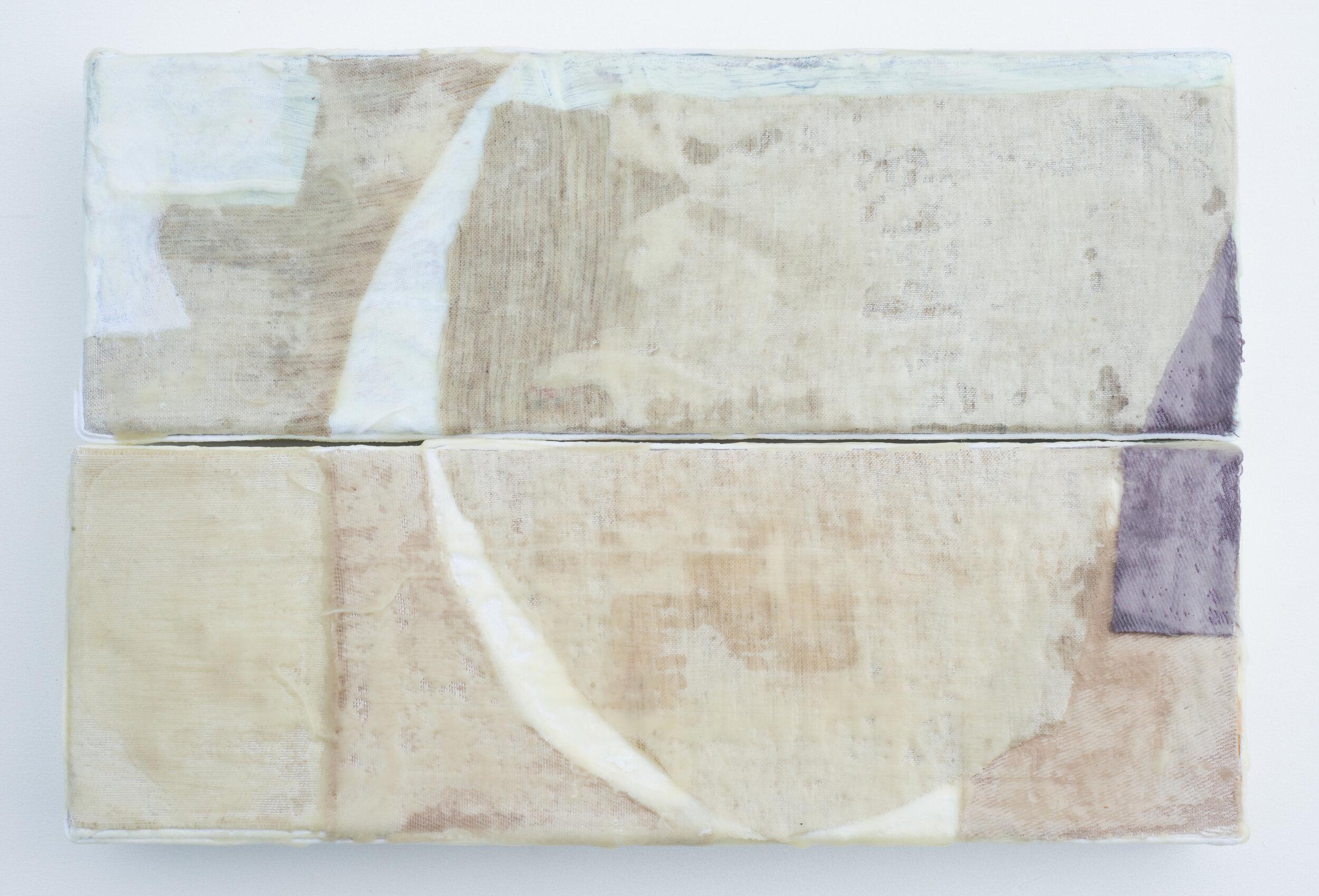 """Remnant #1 - 12""""x16"""", Encaustic on Linen & Canvas"""