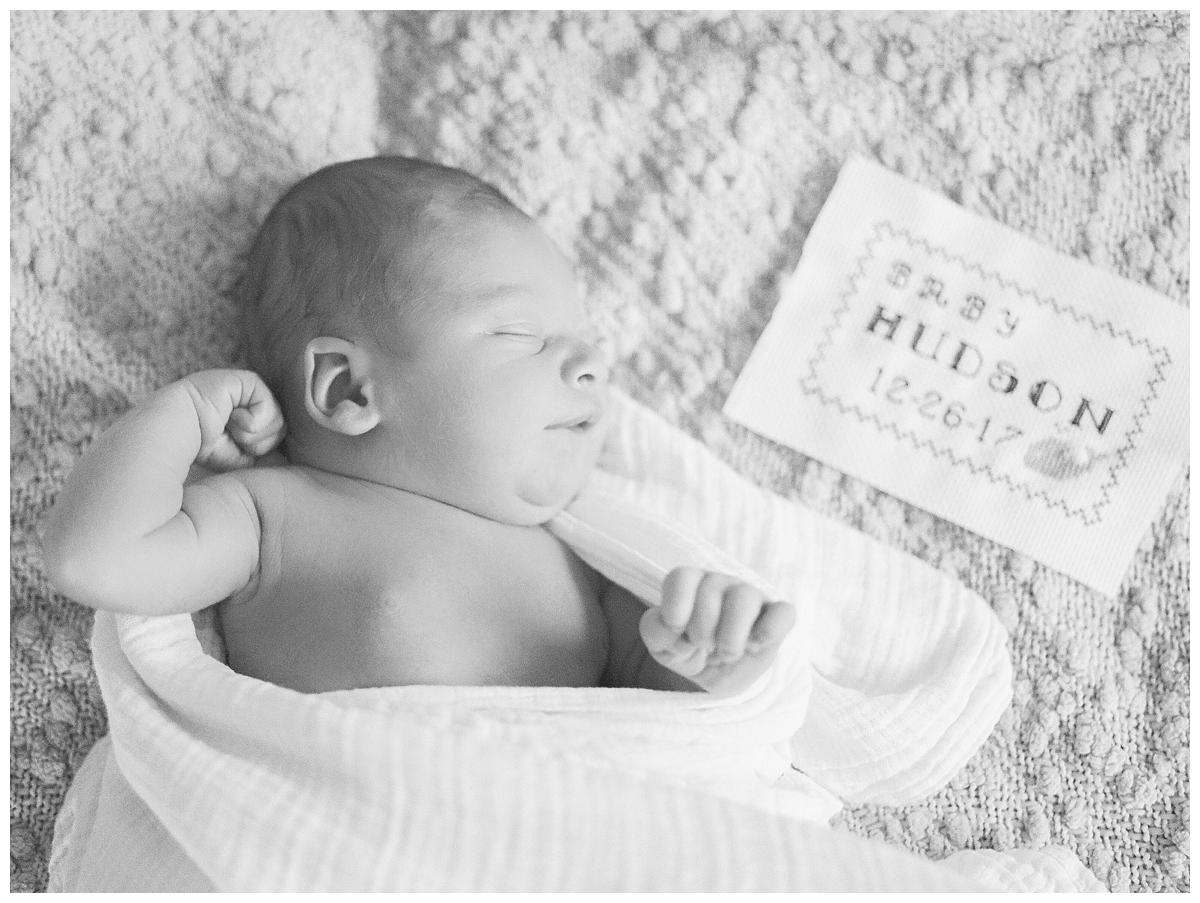Fine Art Film photographer takes in home lifestyle newborn photos in Chico California