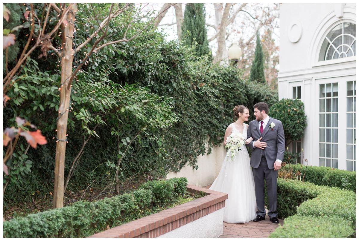 bride and groom wedding portraits in Northern California at Vizcaya wedding venue