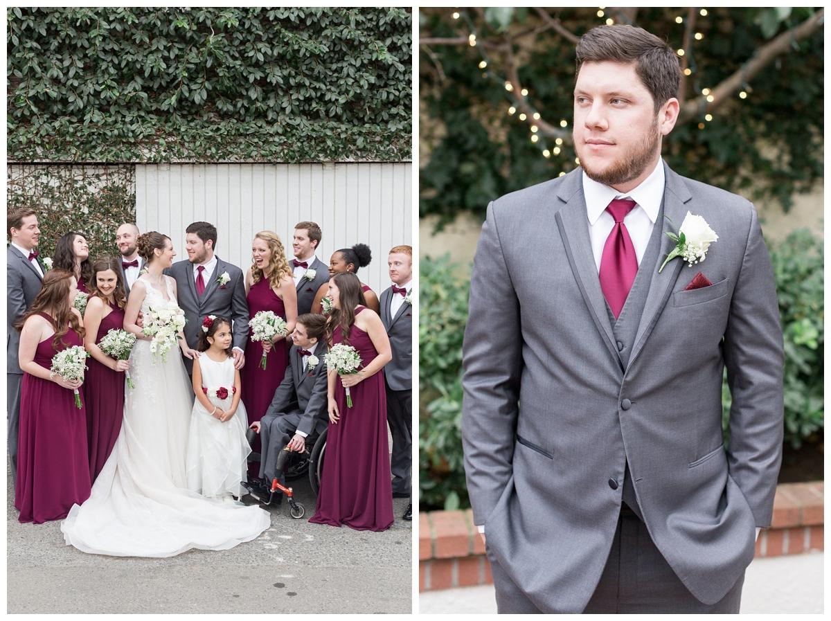 bridal party wedding portraits in Sacramento at Vizcaya Sacramento wedding venue