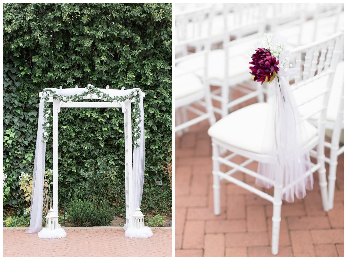 wedding ceremony details at Vizcaya Sacramento in Northern California