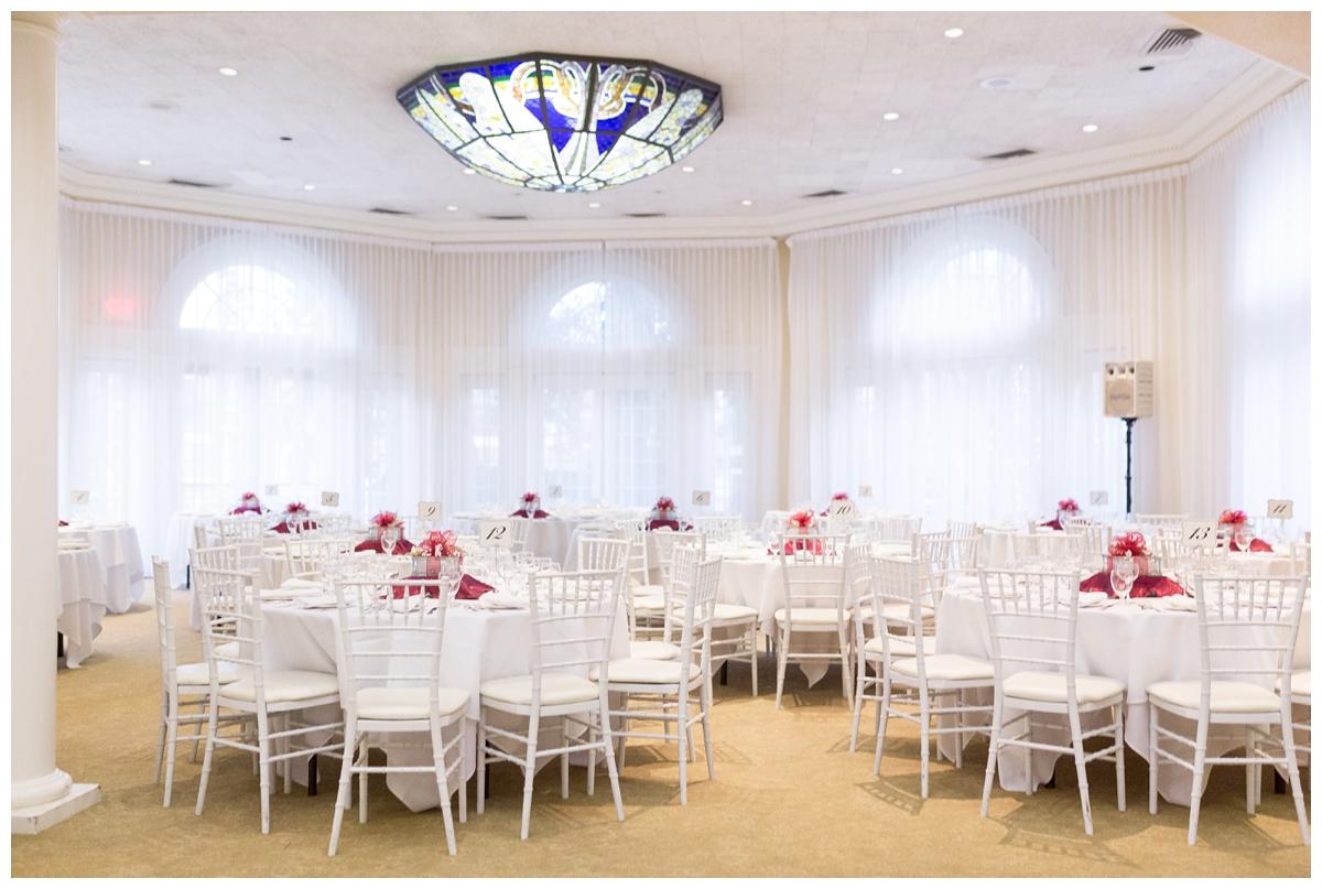 indoor ballroom wedding reception in Northern California