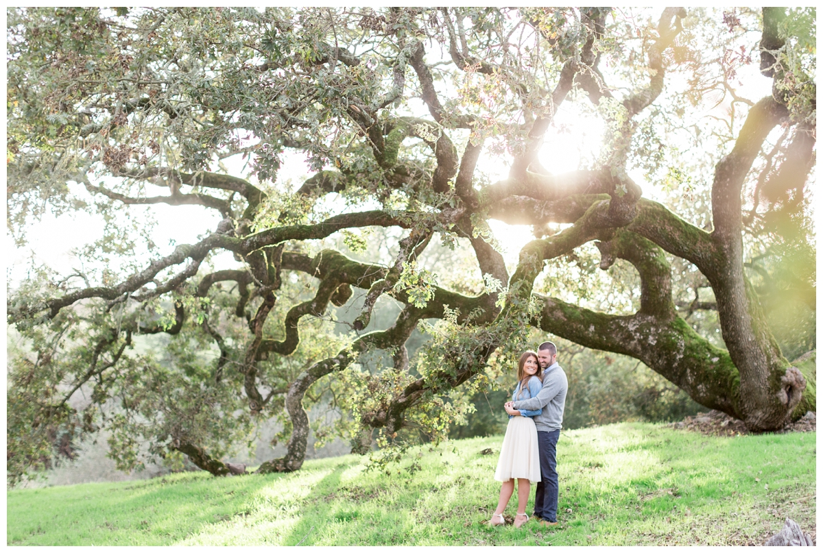 Sonoma County engagement photo session on private property