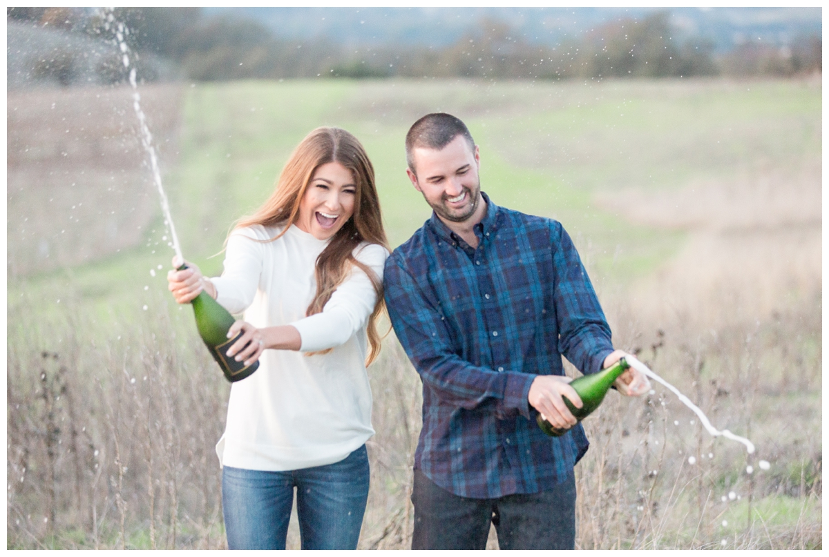 engagement photo session up on a hill in the Sonoma mountains with a destination photographer from Napa