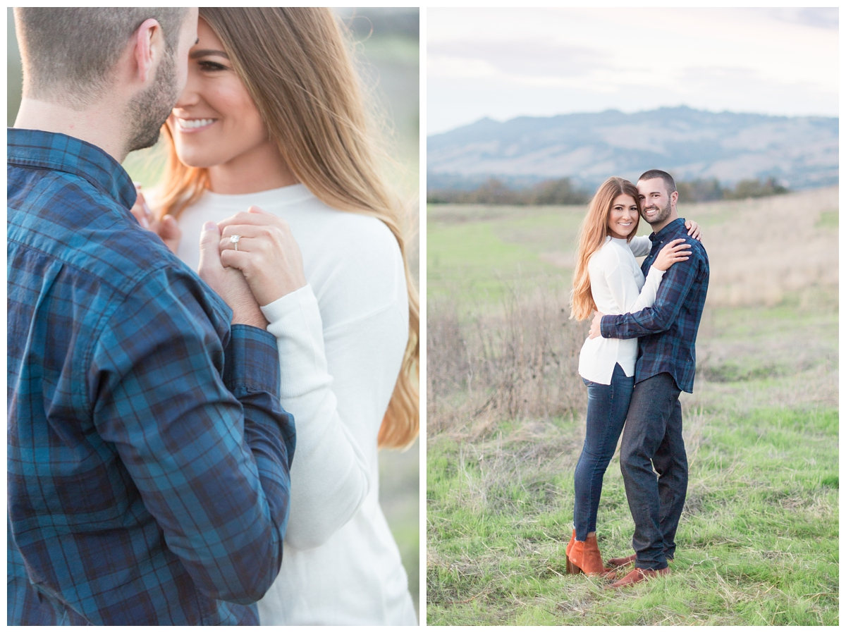 romantic sunset photos taken by a fine art wedding photographer from Northern California in Sonoma