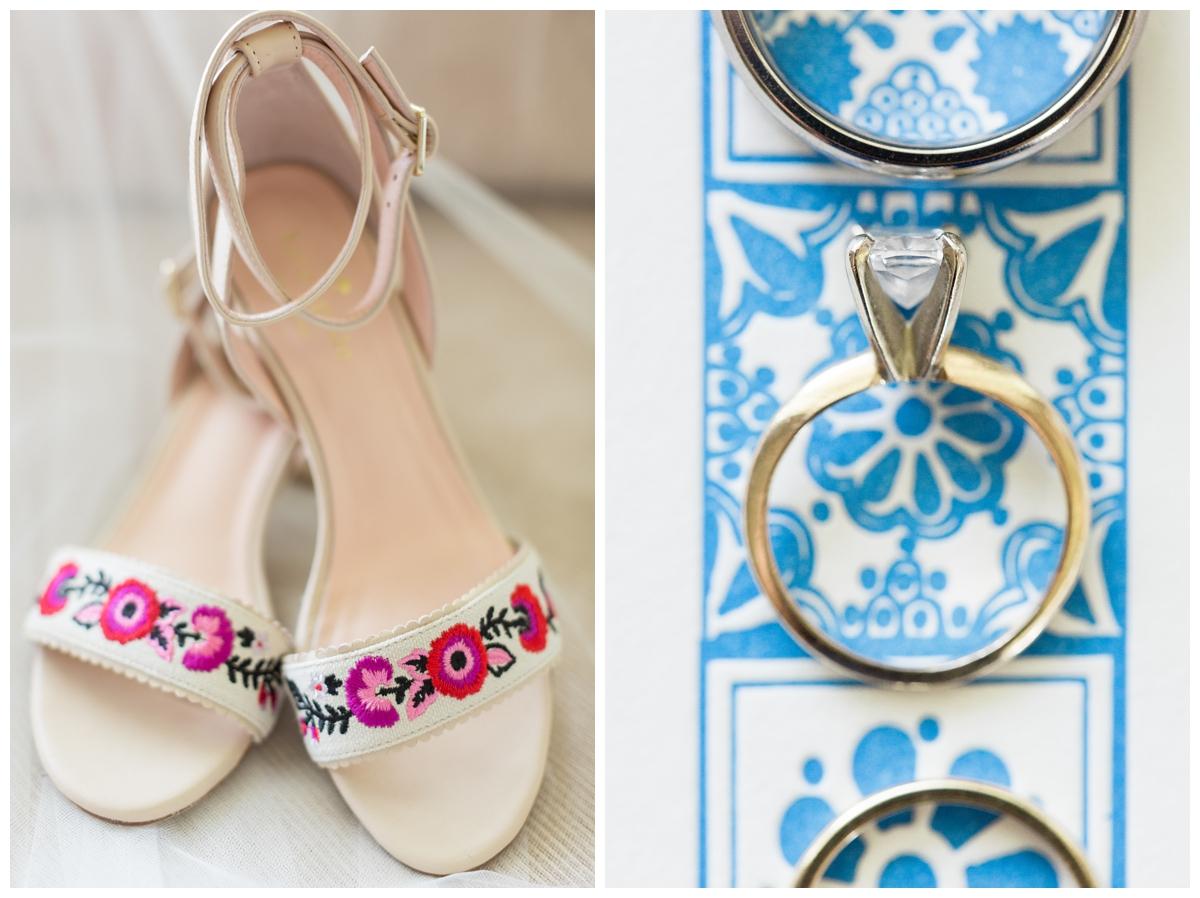 designer Kate Spade shoes worn at a destination wedding in Mexico