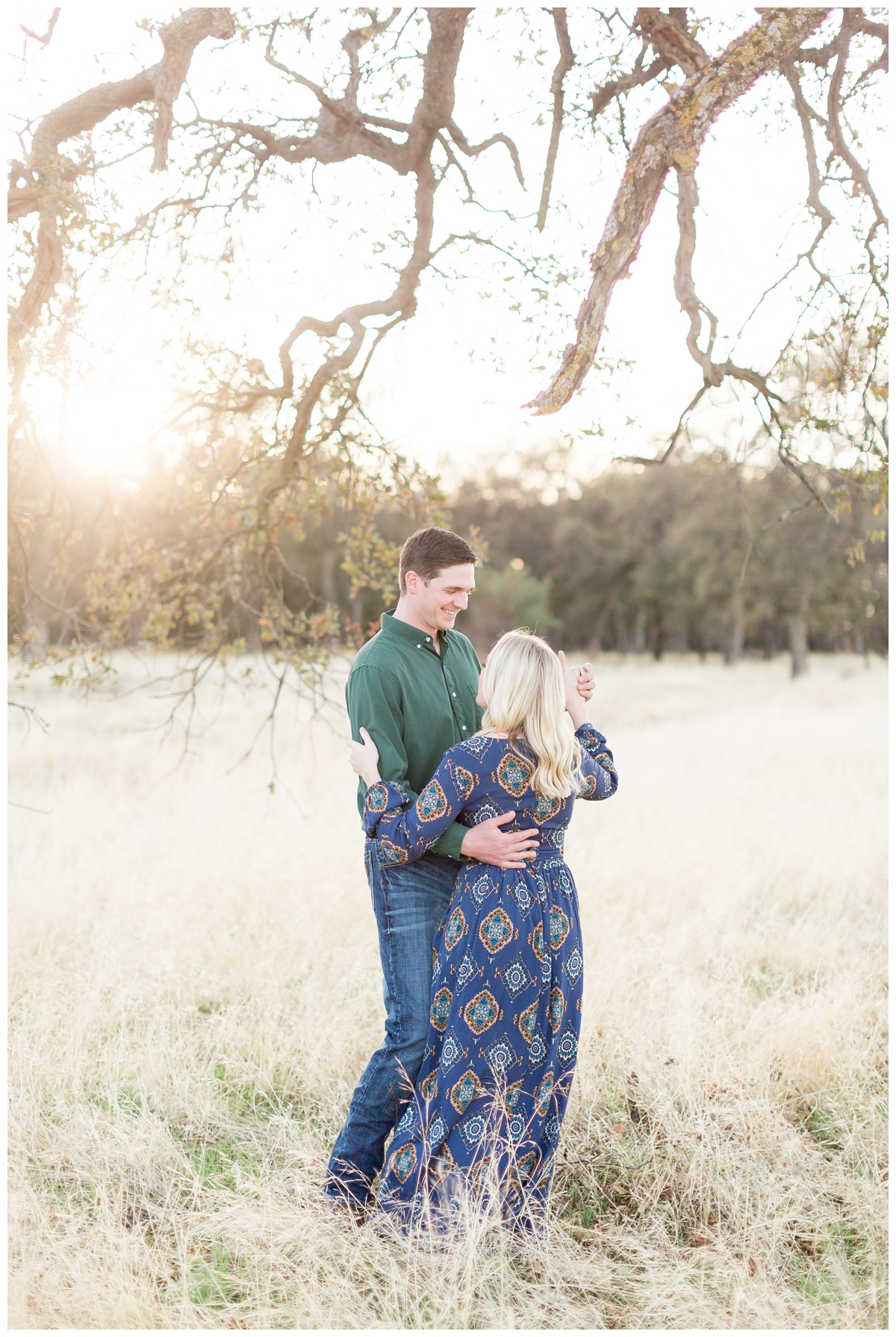 Bidwell Park engagement photography session taken during golden hour right before sunset