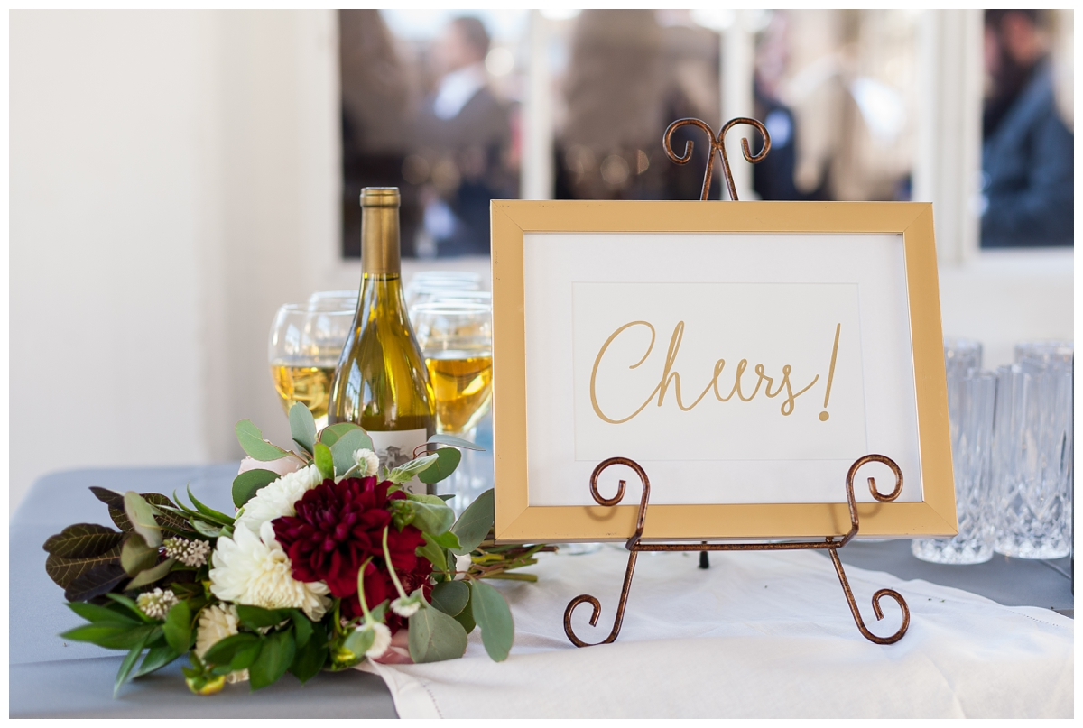 calligraphy signs at wedding reception in San Fransico