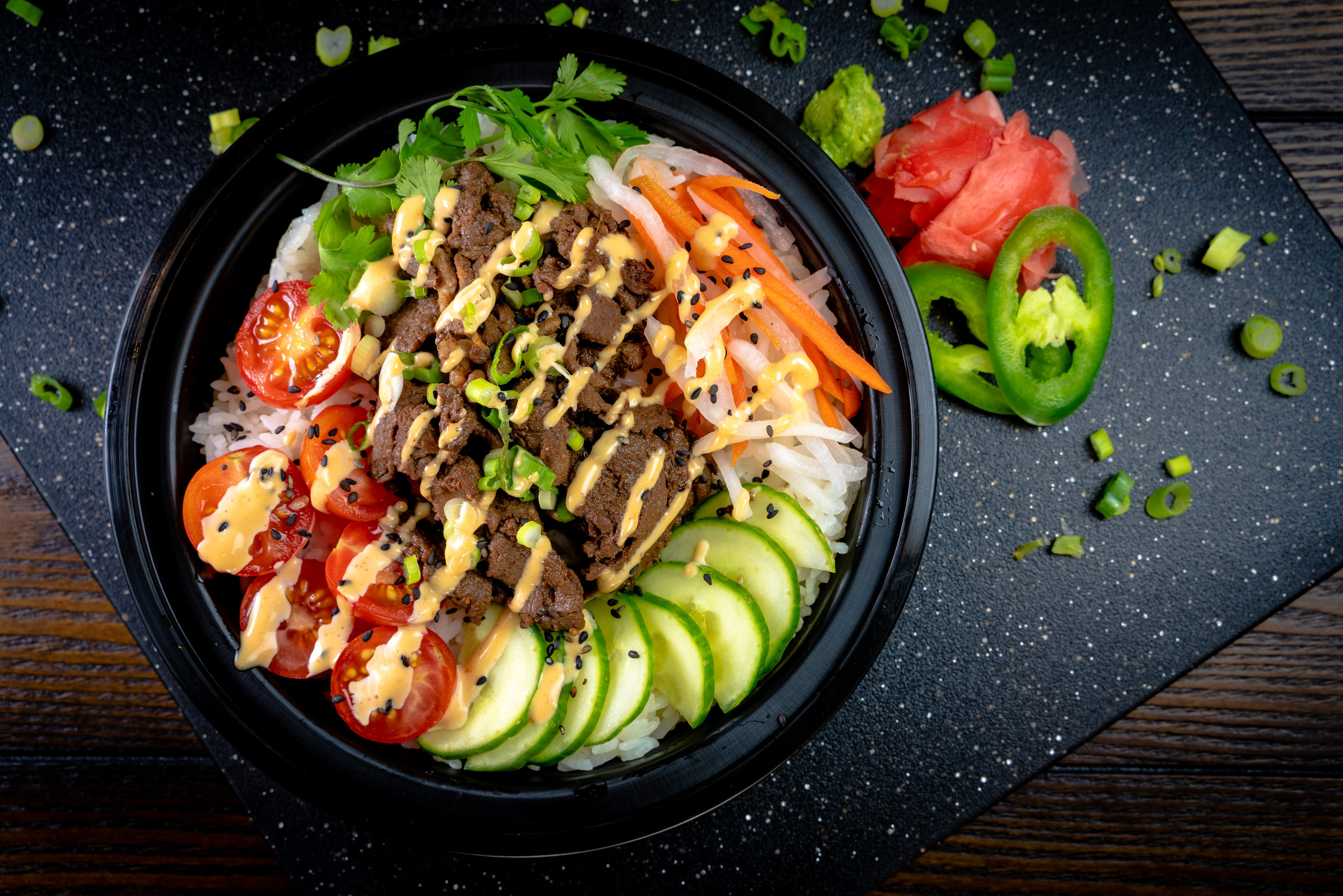 Teriyaki Steak Poke Bowl