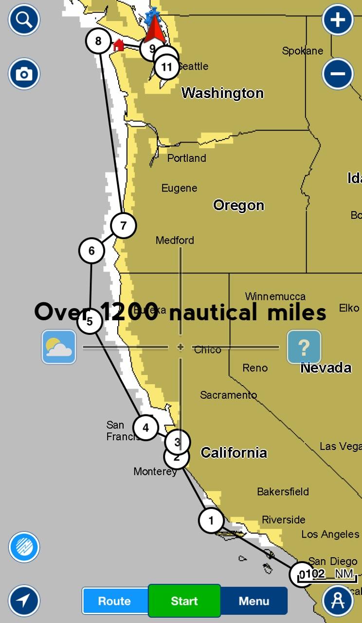 Earn sea miles -