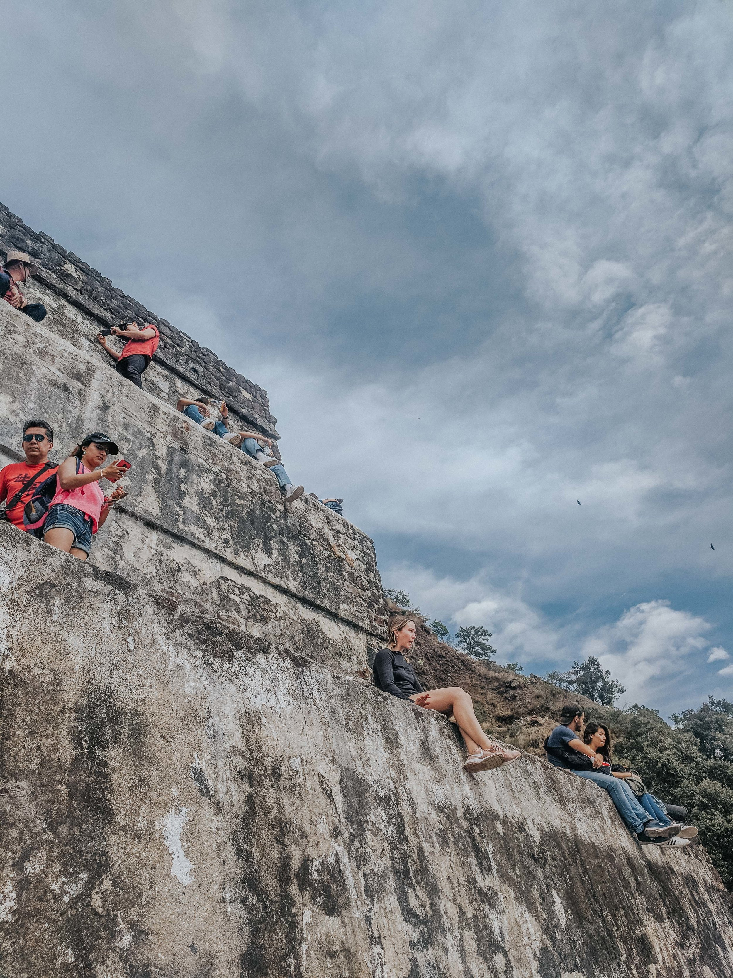 Atop the pyramid in Tepoztlan.