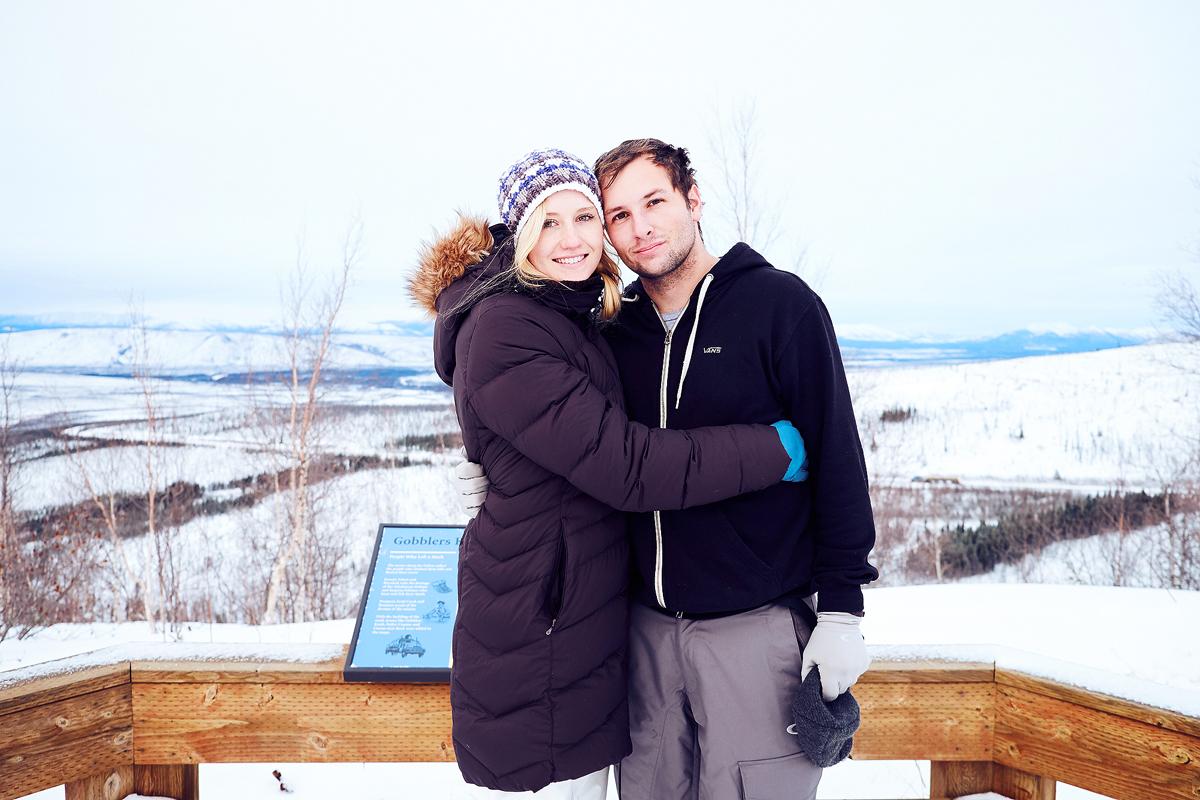 Alexander and his wife, Kayleigh — Alaska, 2015