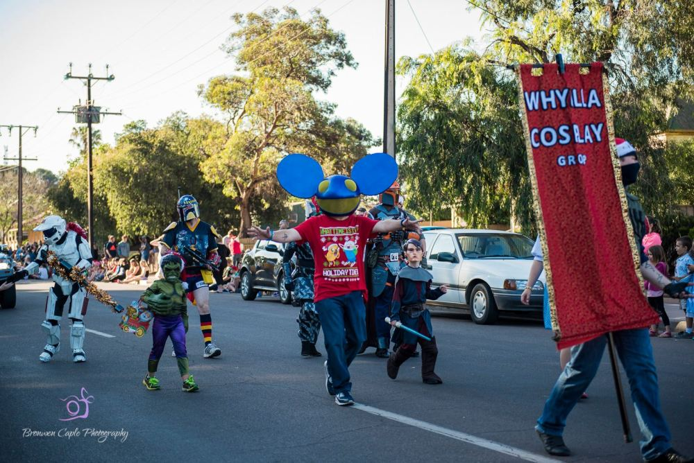 Whyalla Cosplay in the Whyalla Pageant, Photo by Bronwen Caple Photography.
