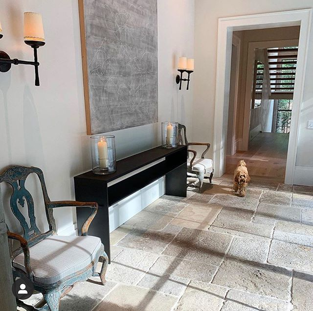 Taking inspiration from this beautiful foyer via @timothywhealon Love the mix! Same/similar hurricanes headed to Willa Gray. #instockatWGHome#interiors#interior123#interiorinspo#favoritedesignerWGHome