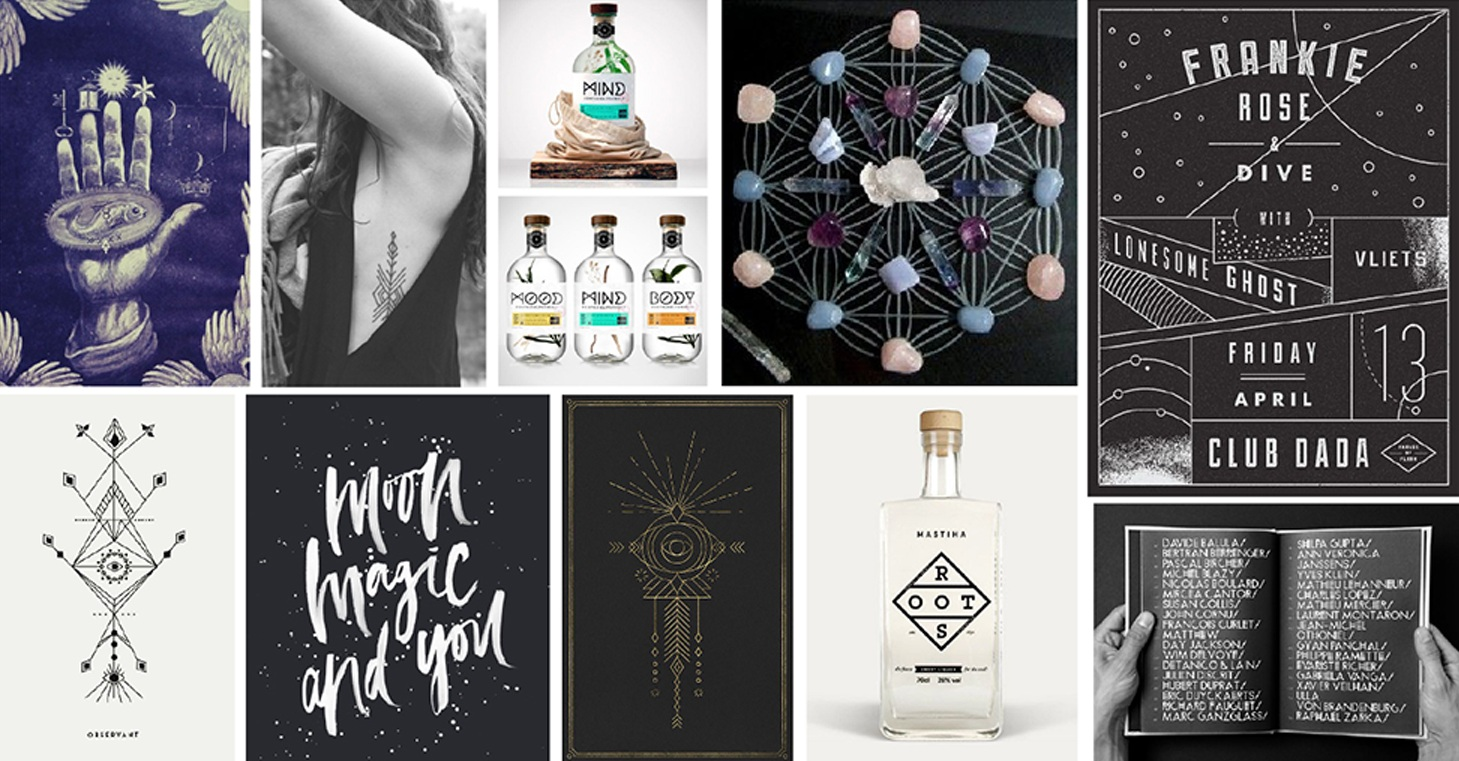 Chosen mood board for Root Elixirs