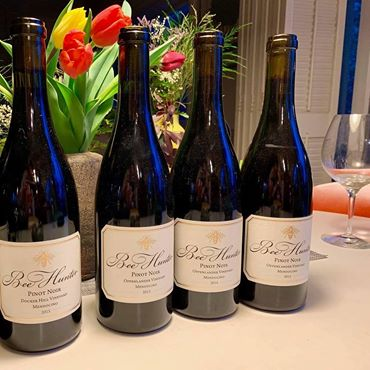 Bee Hunter wine bottles