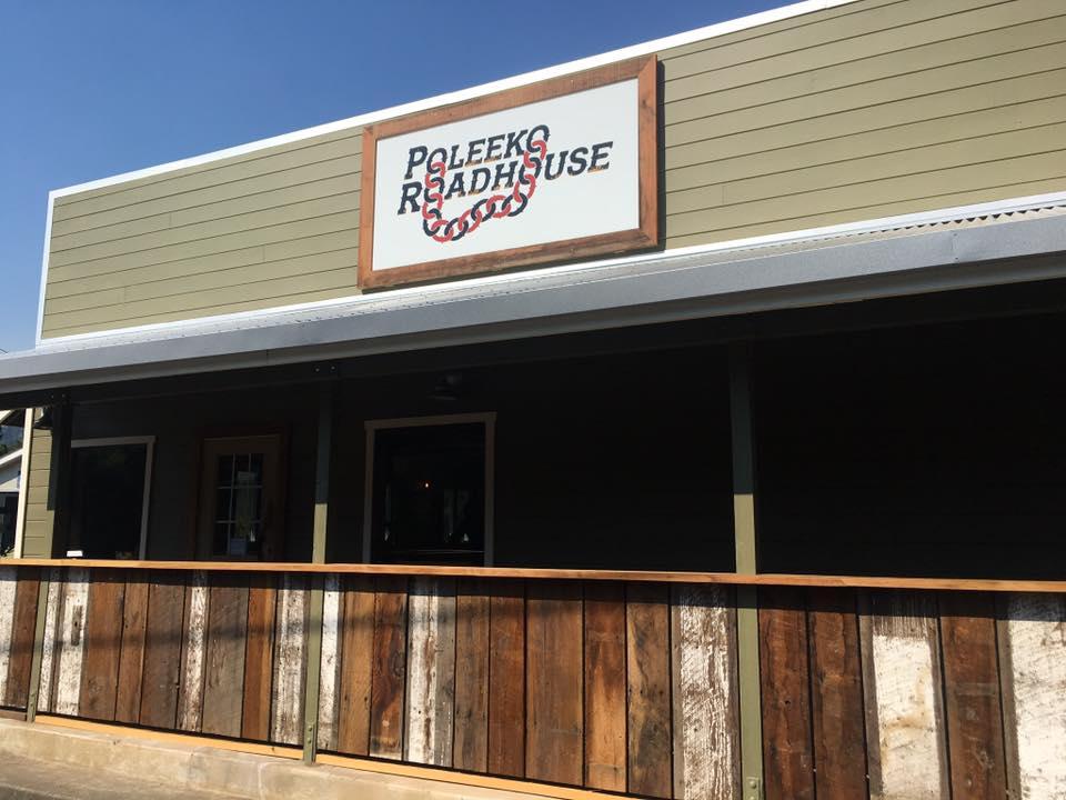 the outside of Poleeko Roadhouse in Philo, California