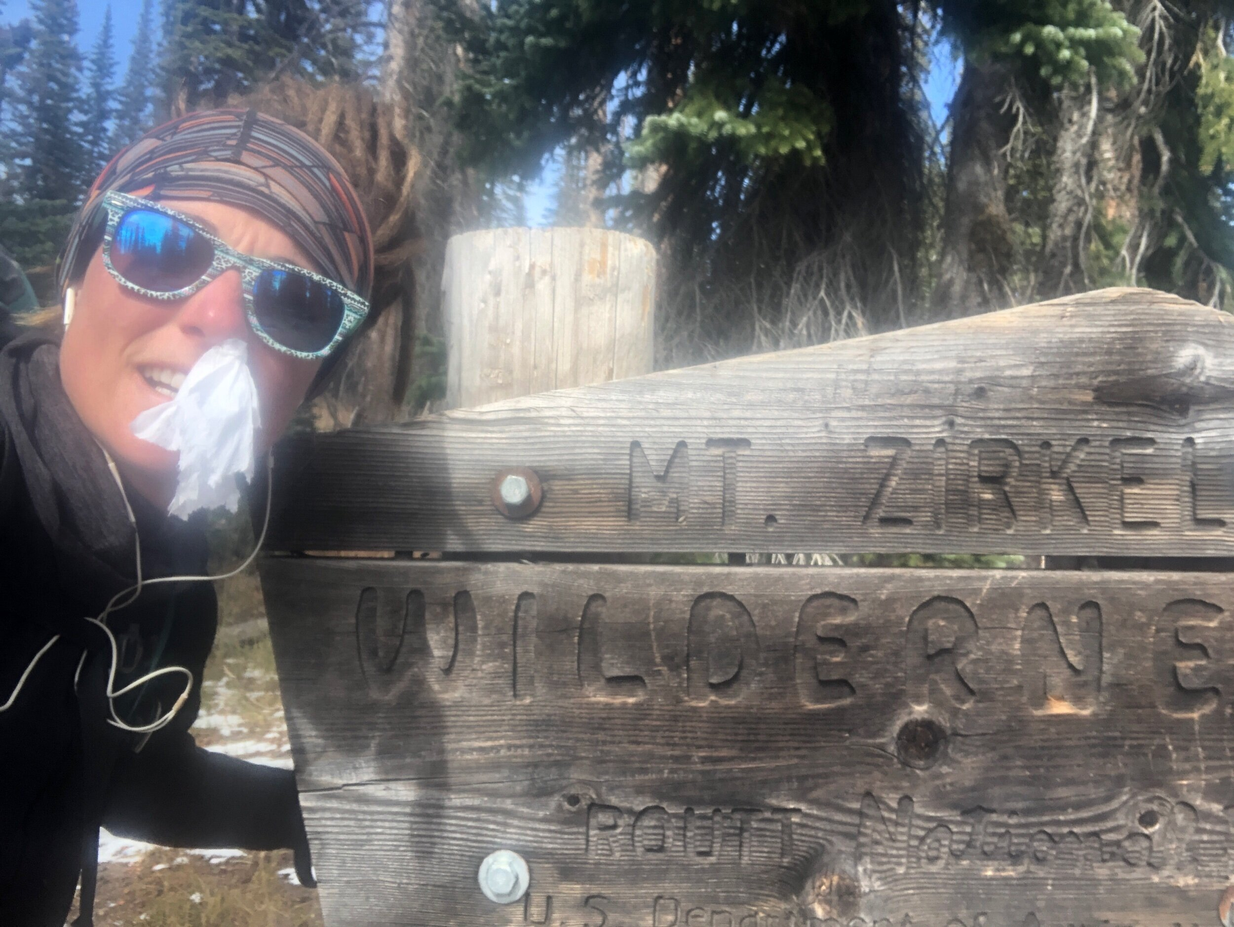 Bloody nose at Zirkel Wilderness