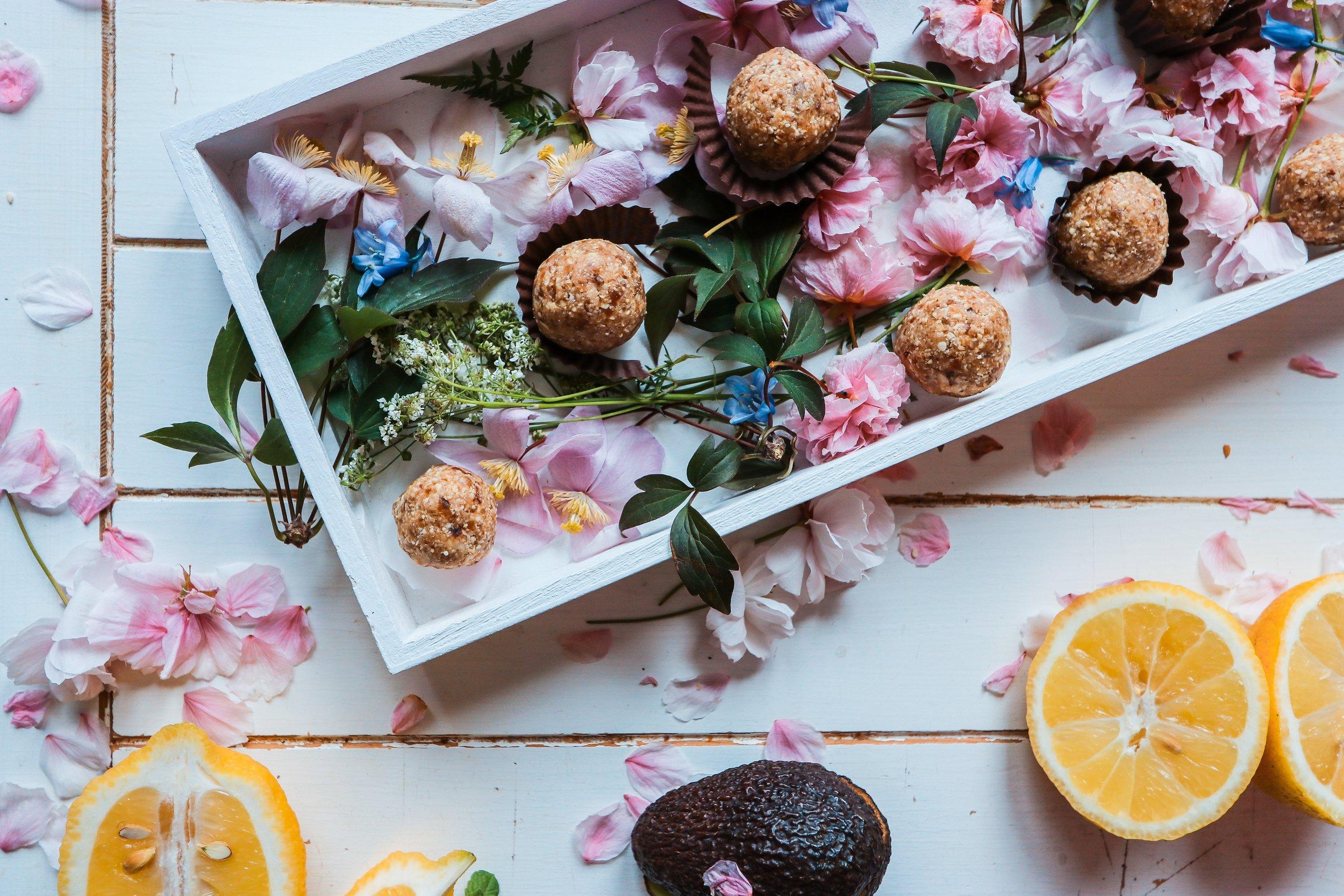 Energy Balls   Features: Gluten-free / Plantiful / Vegan  Brownie Bites / Nut-free Energy Bites