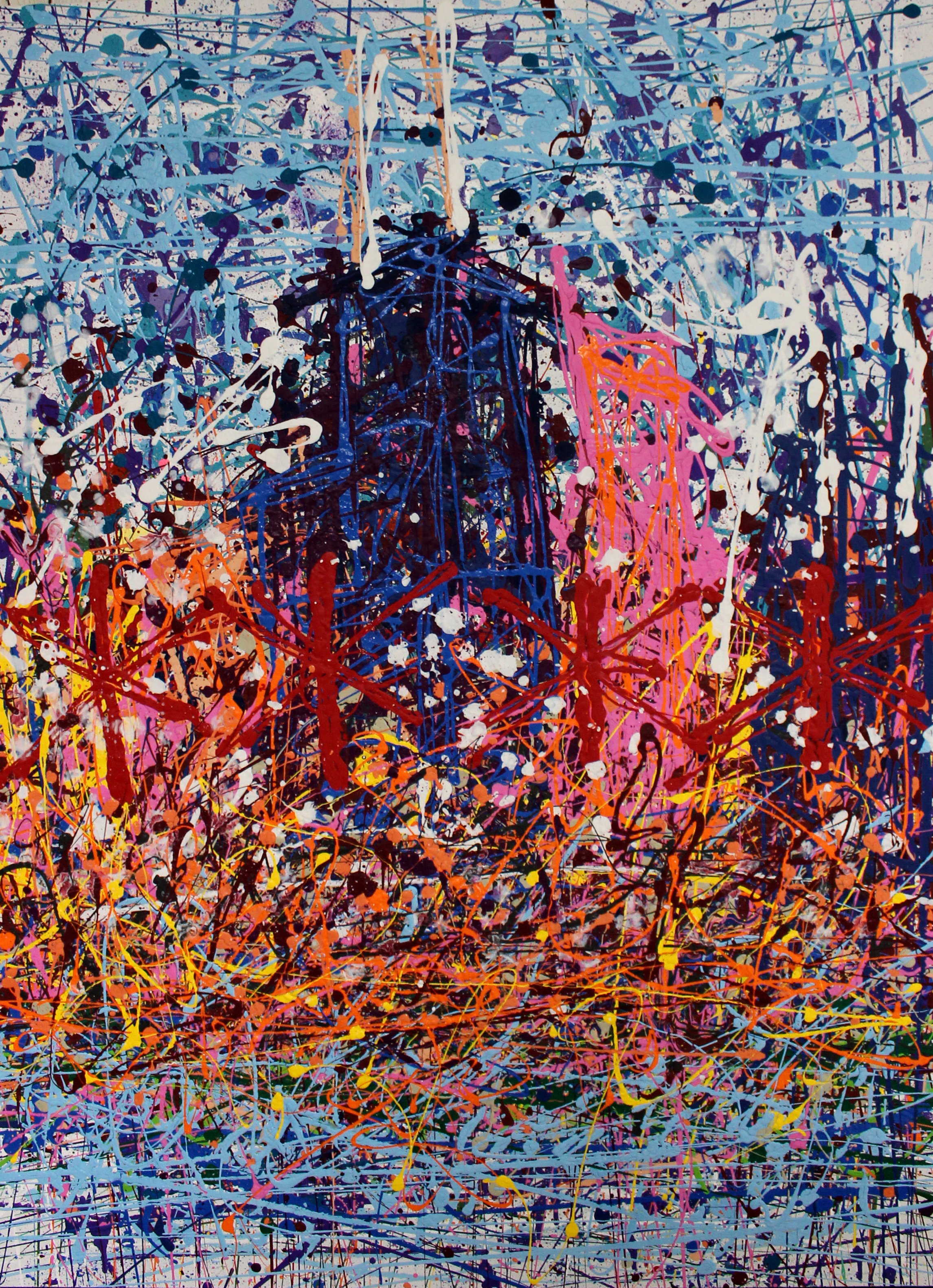 Chicago Skyman, 24 x 48 inches.