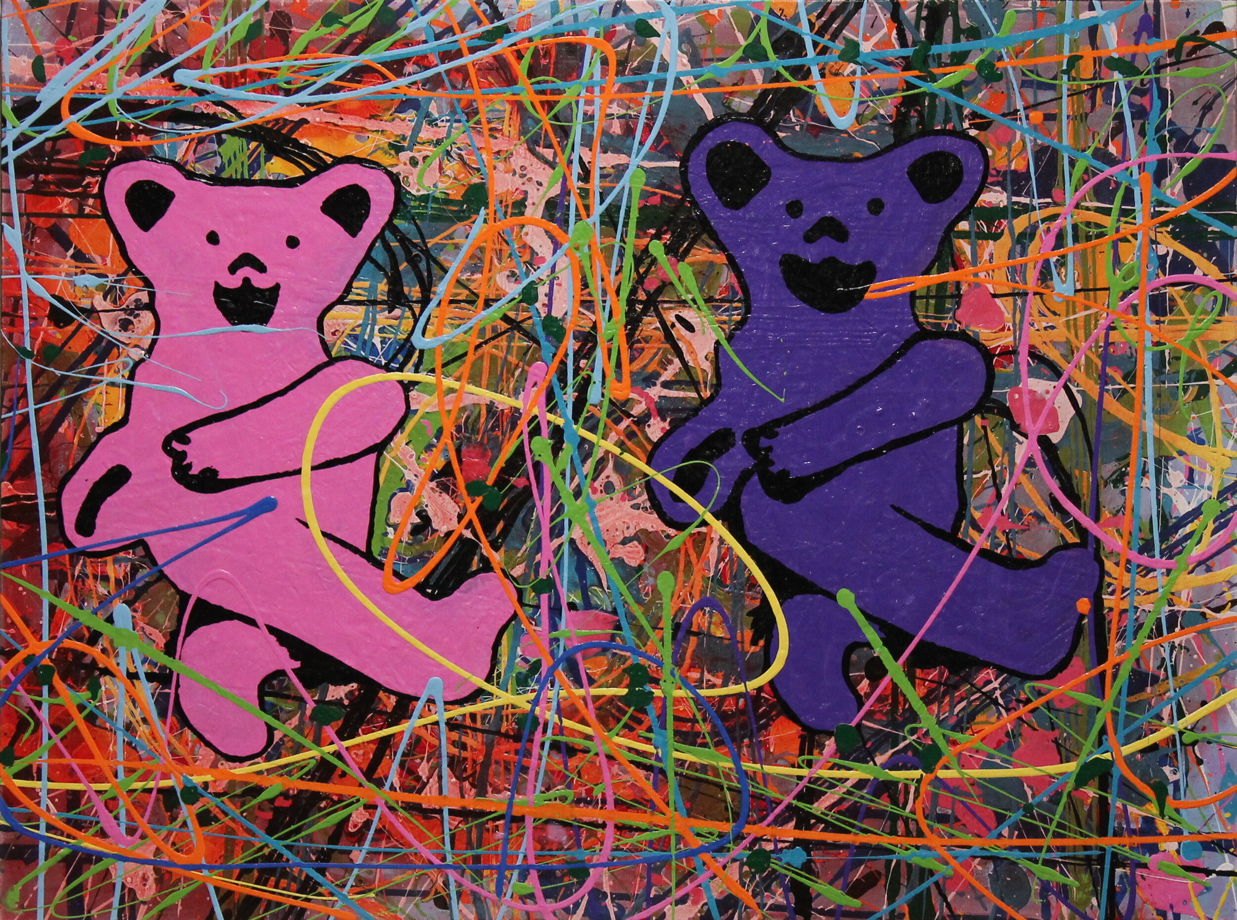 Matilda and Teddy, 30 x 40 inches