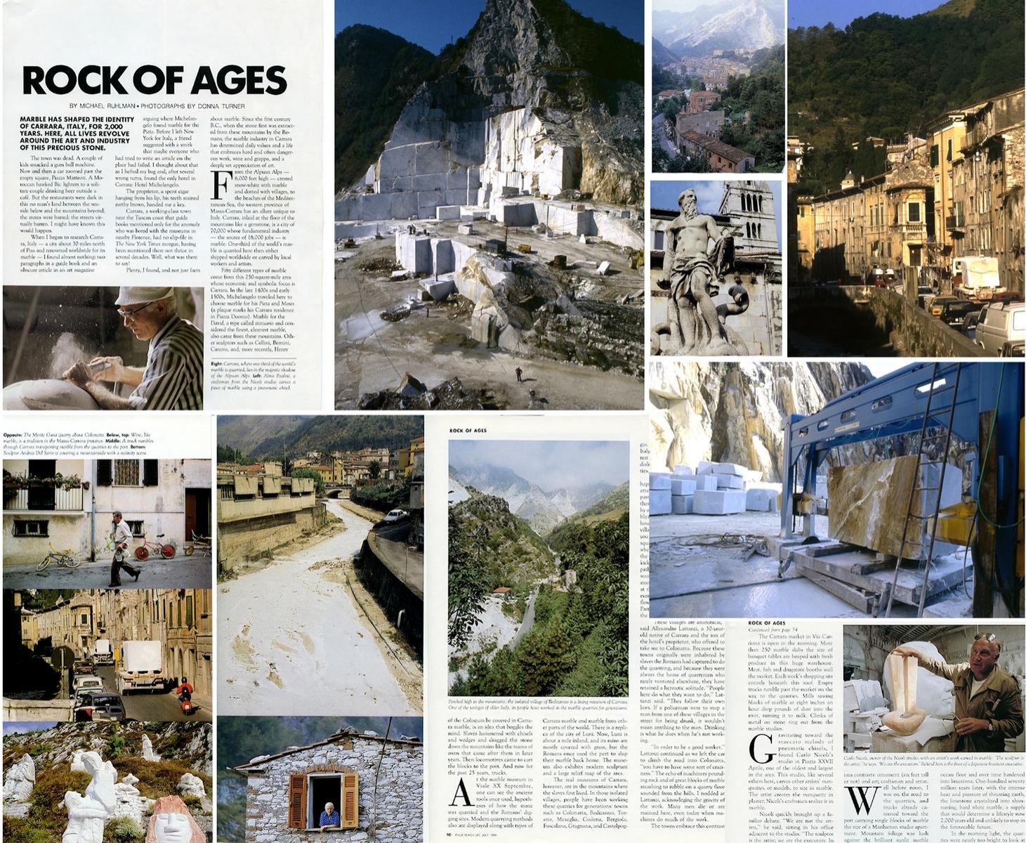 Carrara marble industry • Palm Beach Life Magazine 1988