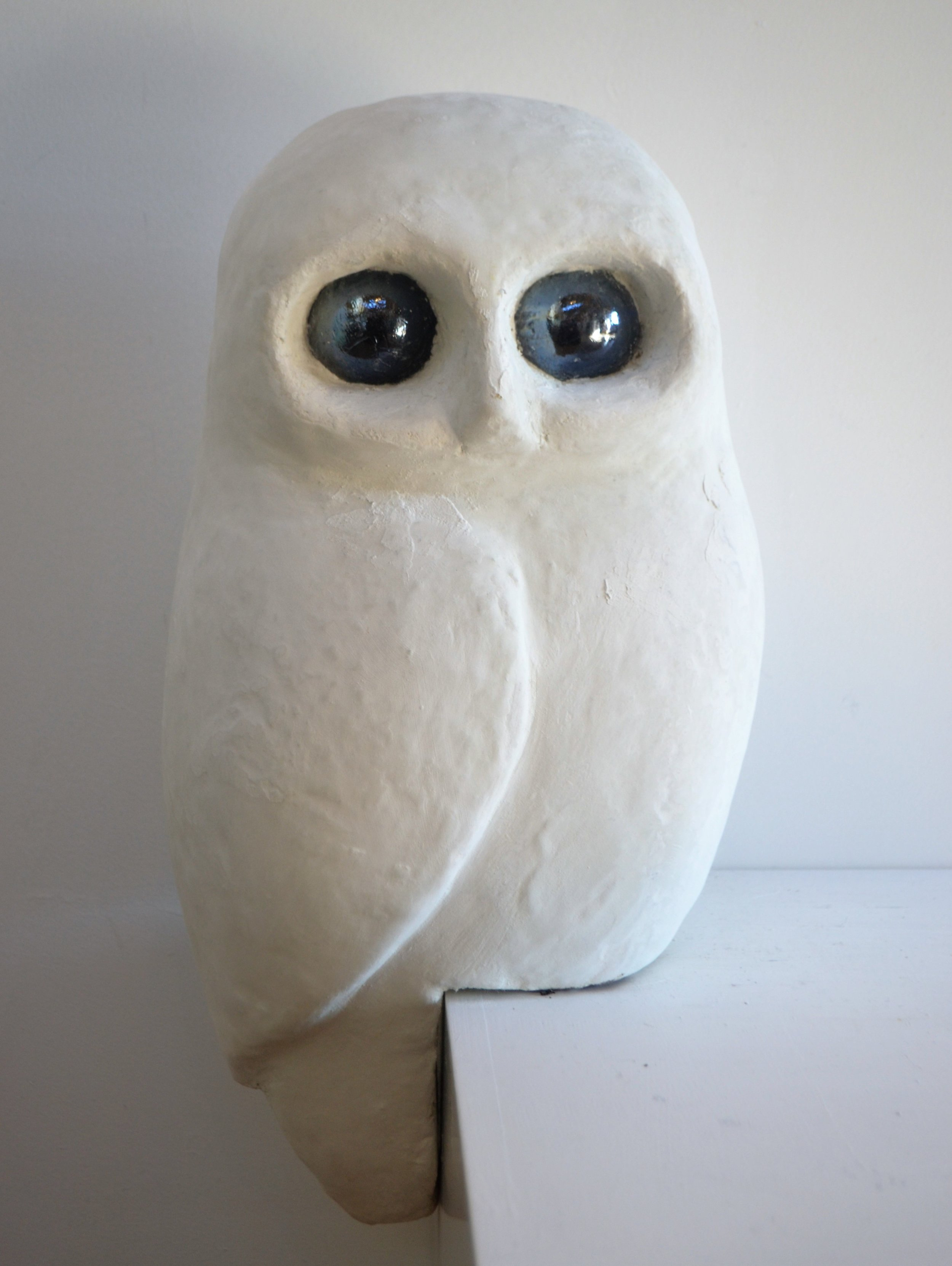 Owl  John Phillips, artis fiberclay, indoor/outdoor, mounted on peg (inc.)  Small - $290.00 ea  Large - $320.00 ea (check availability) Small owl on plinth - $350.00 (three available)