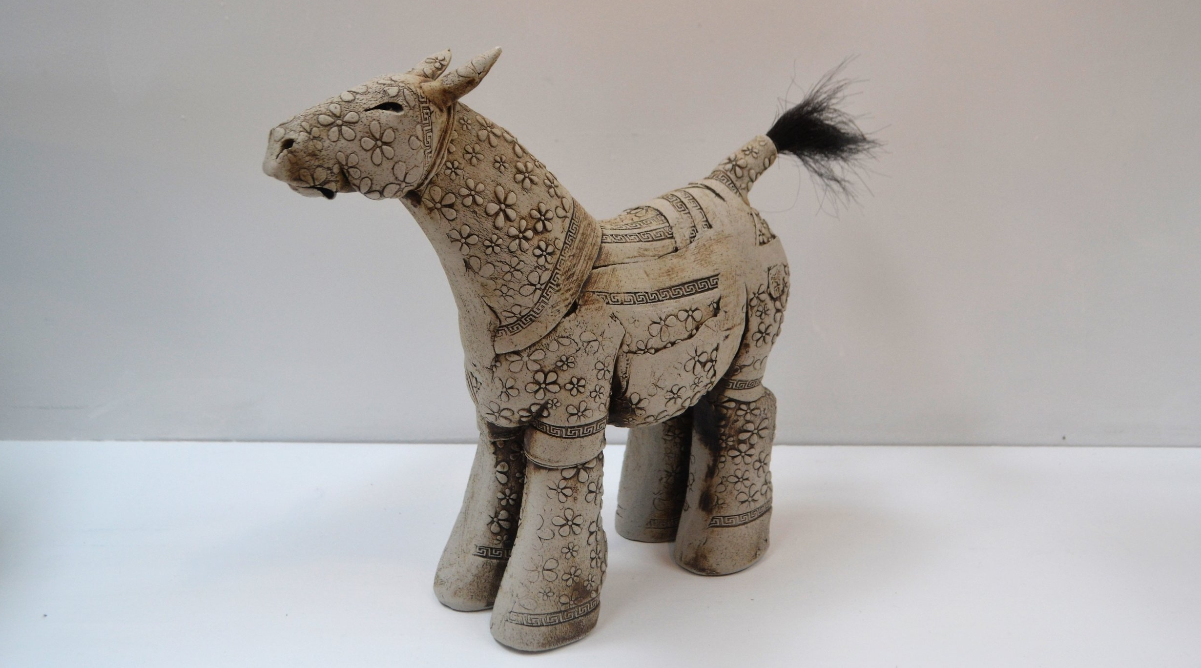 Daisy Horse  Fiona Tunnicliffe, hand formed ceramic sculpture, 315mm height  sold
