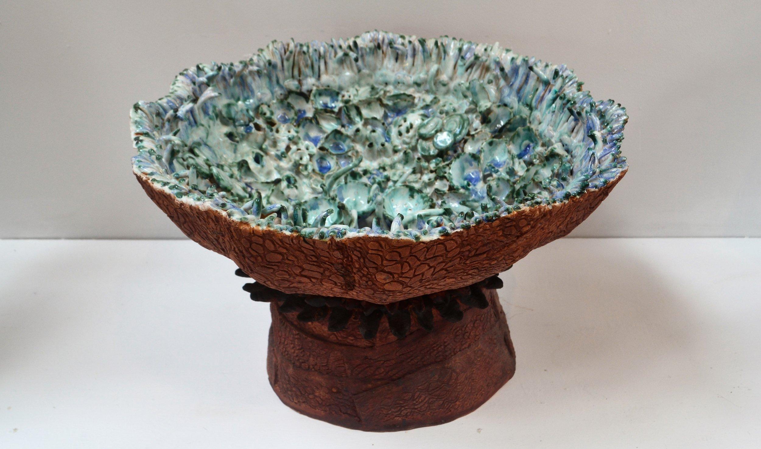Sea Urchin Bowl  Cherrie James, glazed and fired ceramic  $390.00