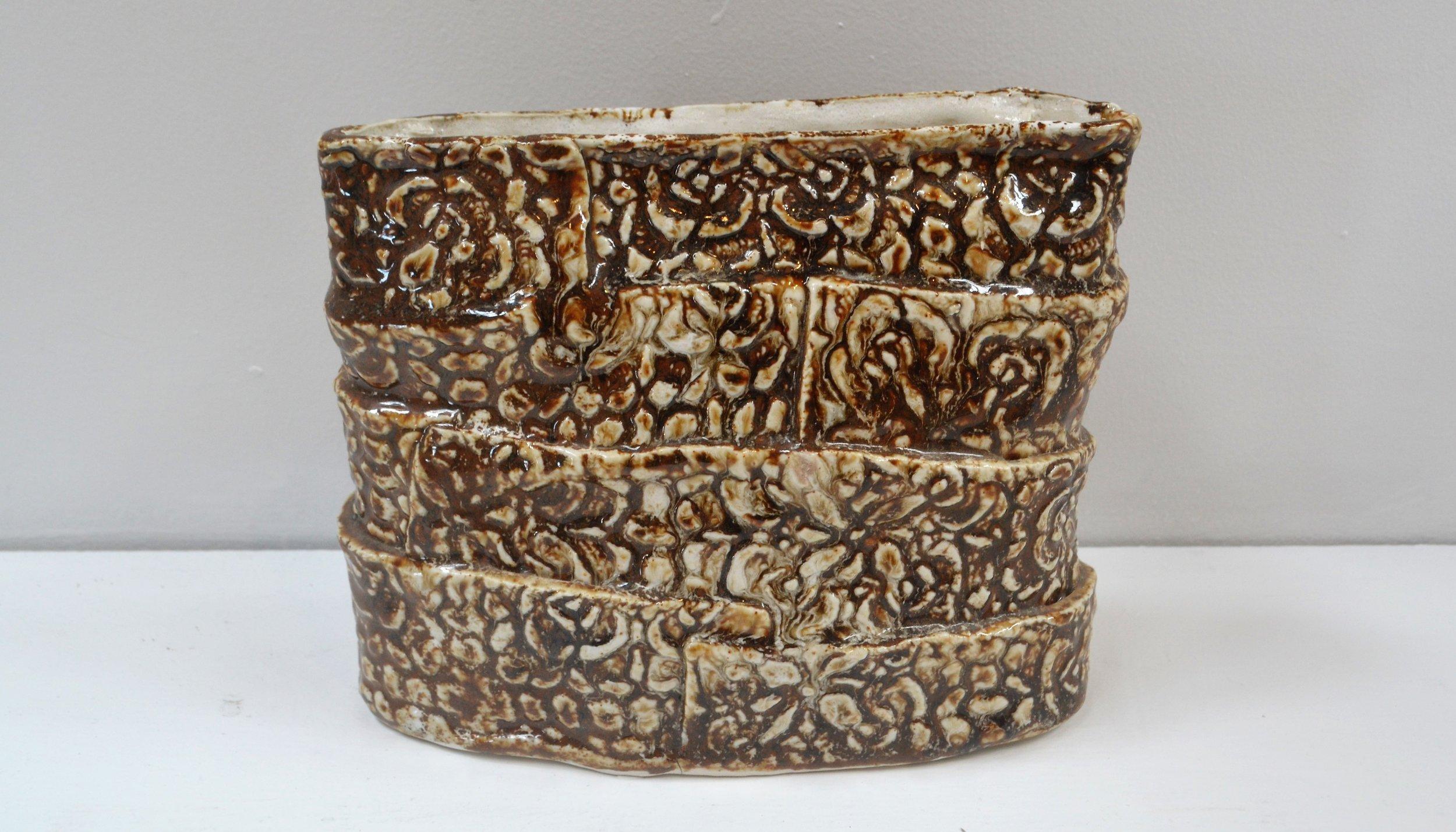 Paper Bag Vase  Cherrie James, glazed and fired ceramic  $195.00