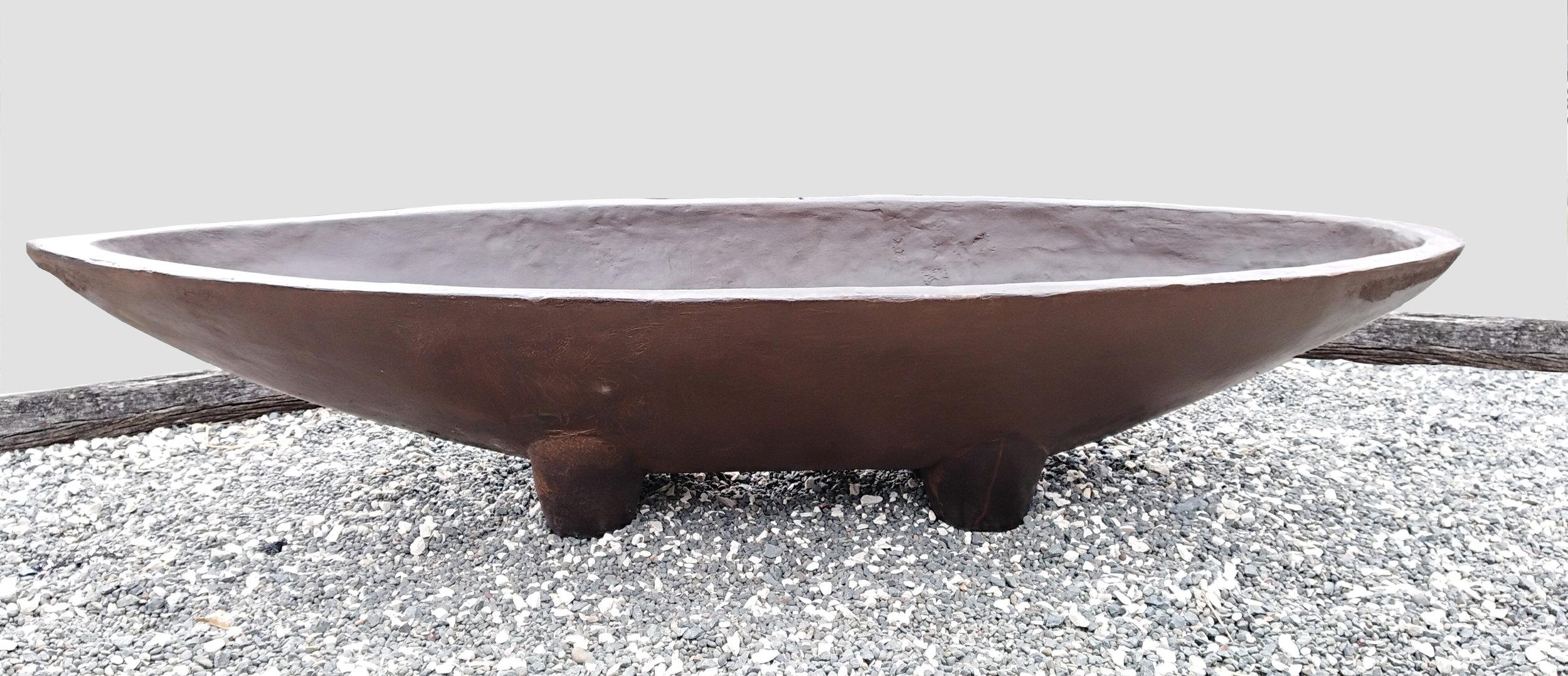 Waka  John Phillips, artis fiberclay, free-standing indoor/outdoor sculpture (has drainage plug), 1900mm L x 345mm H x 680mm W  $850.00